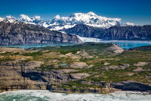 Kostenloses Stock Foto zu gletscher, schnee, meer, landschaft