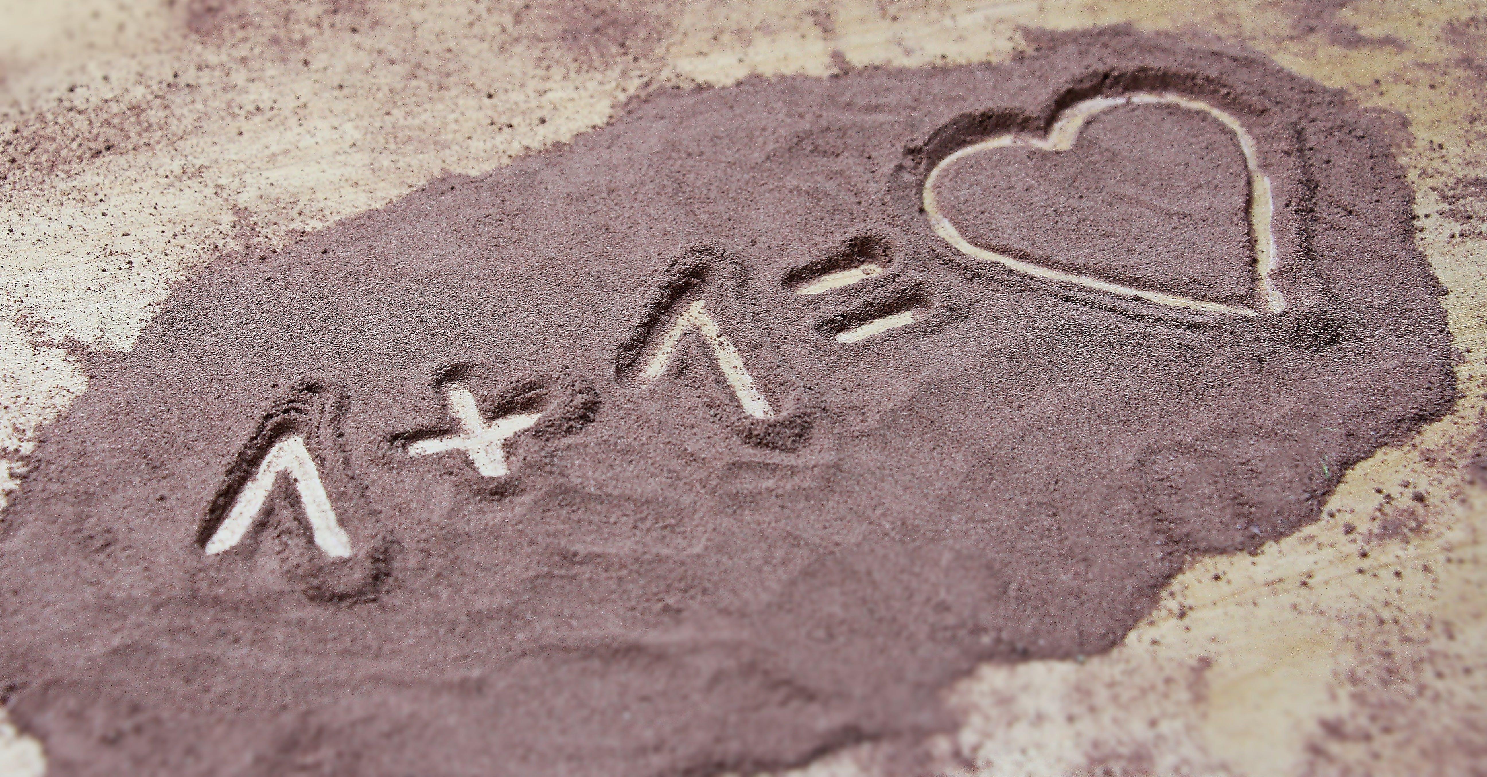 Kostenloses Stock Foto zu strand, liebe, sand, herz