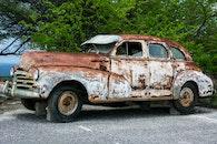 broken, car, vehicle