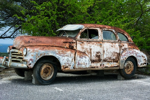 Free stock photo of broken, car, vehicle, vintage
