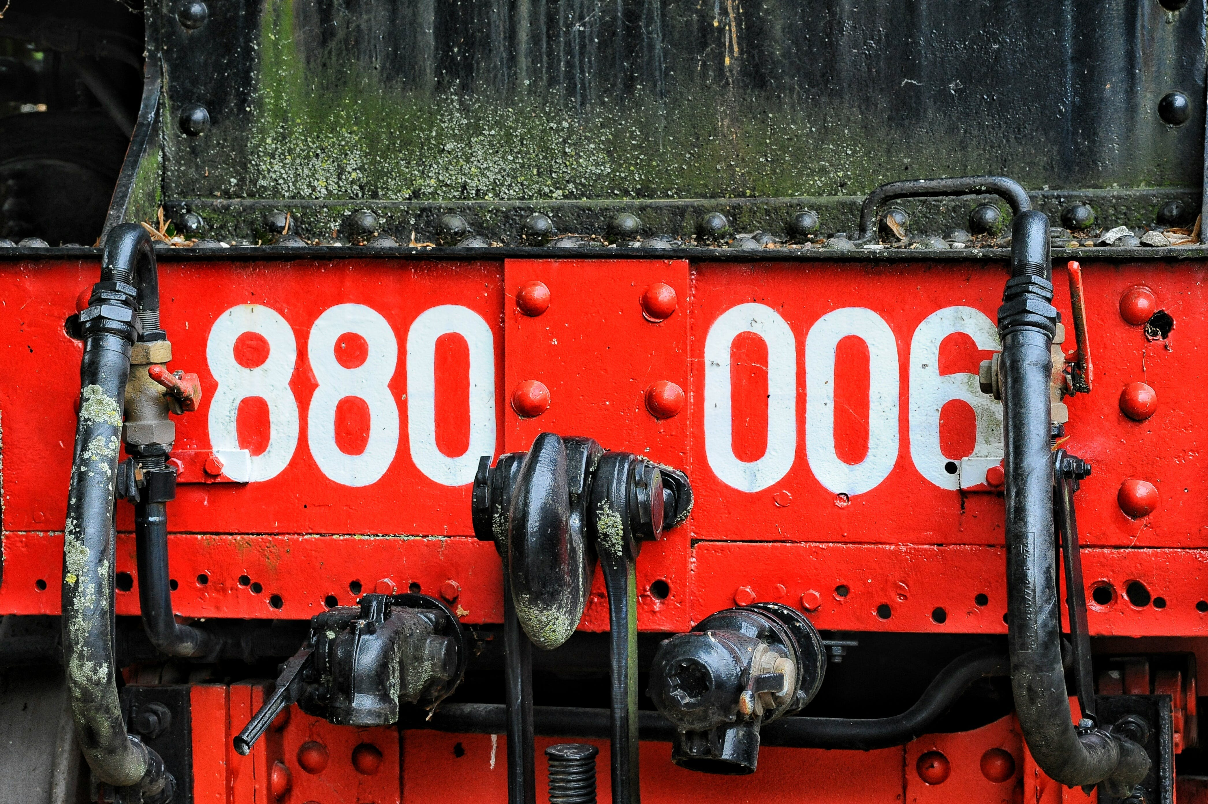Free stock photo of red, dirty, sign, train