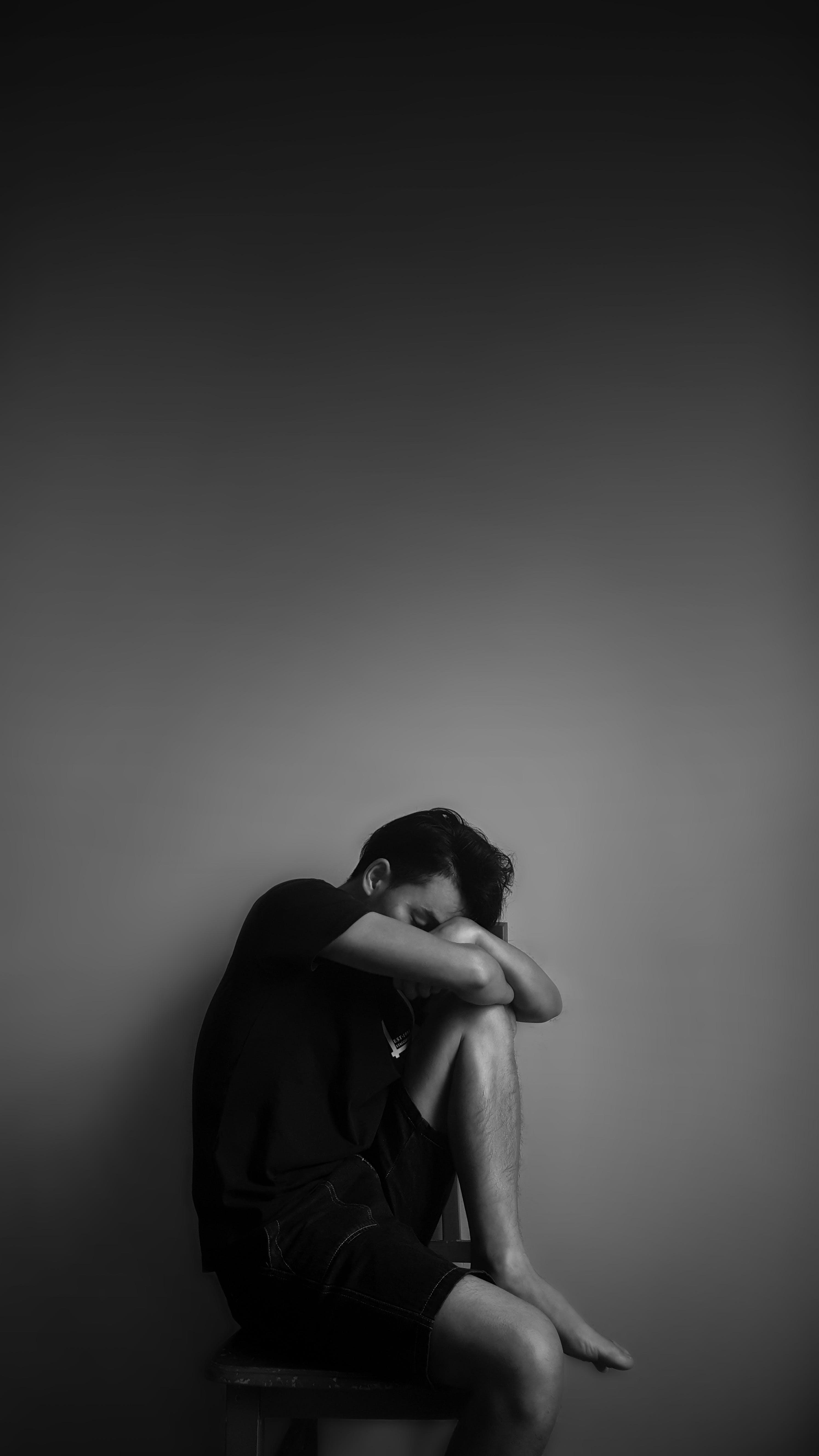 betrübt, depression, dunkel