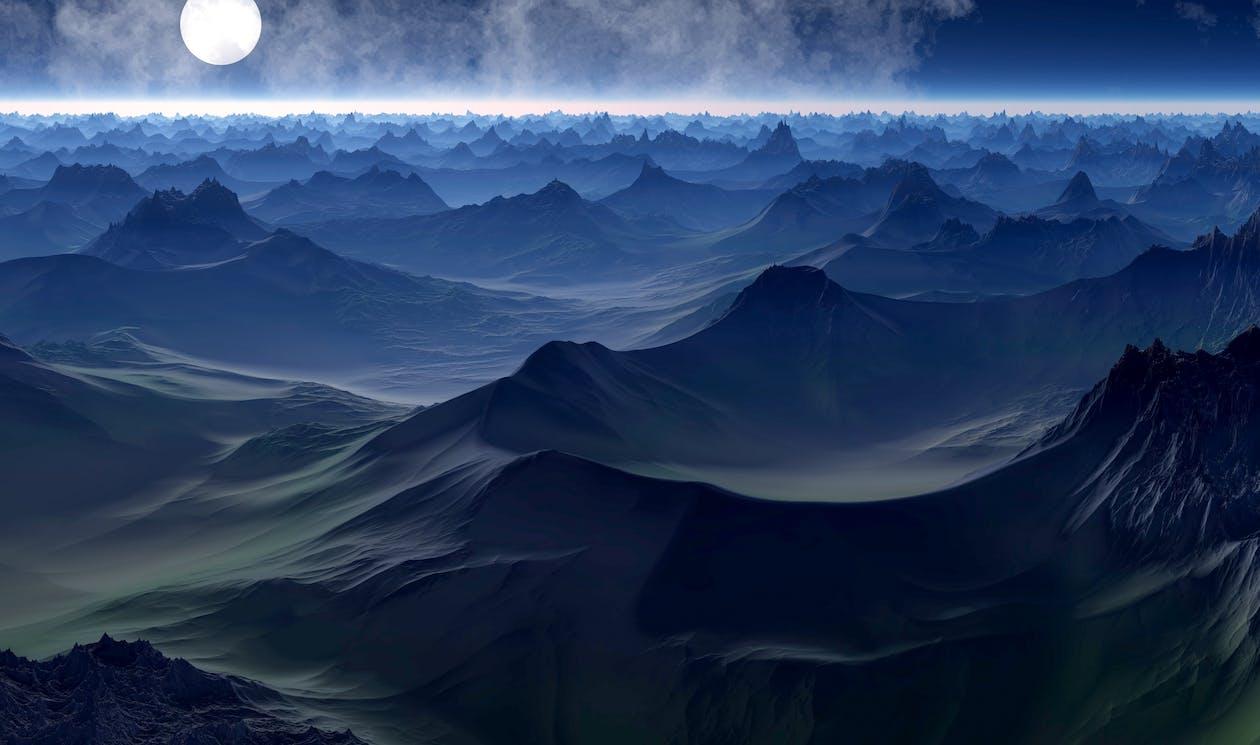 abstraktní, cestování, horizont