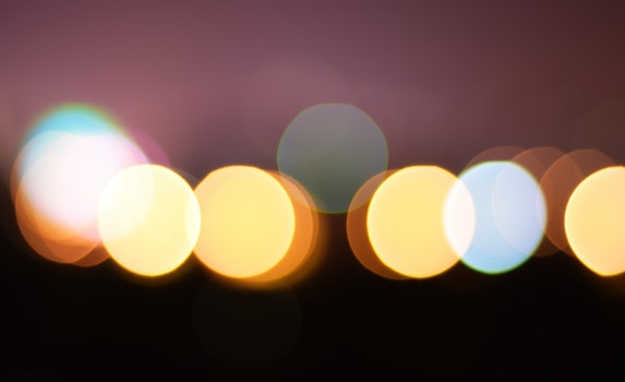 Yellow and White Lights Bokeh
