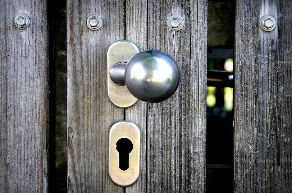 door, doorknob, keyhole