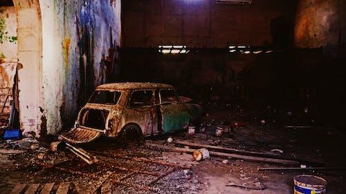 殘骸汽車insied布料 的 免費圖庫相片