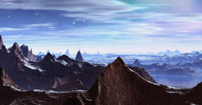 Desktop background of nature, high, alps, adventure