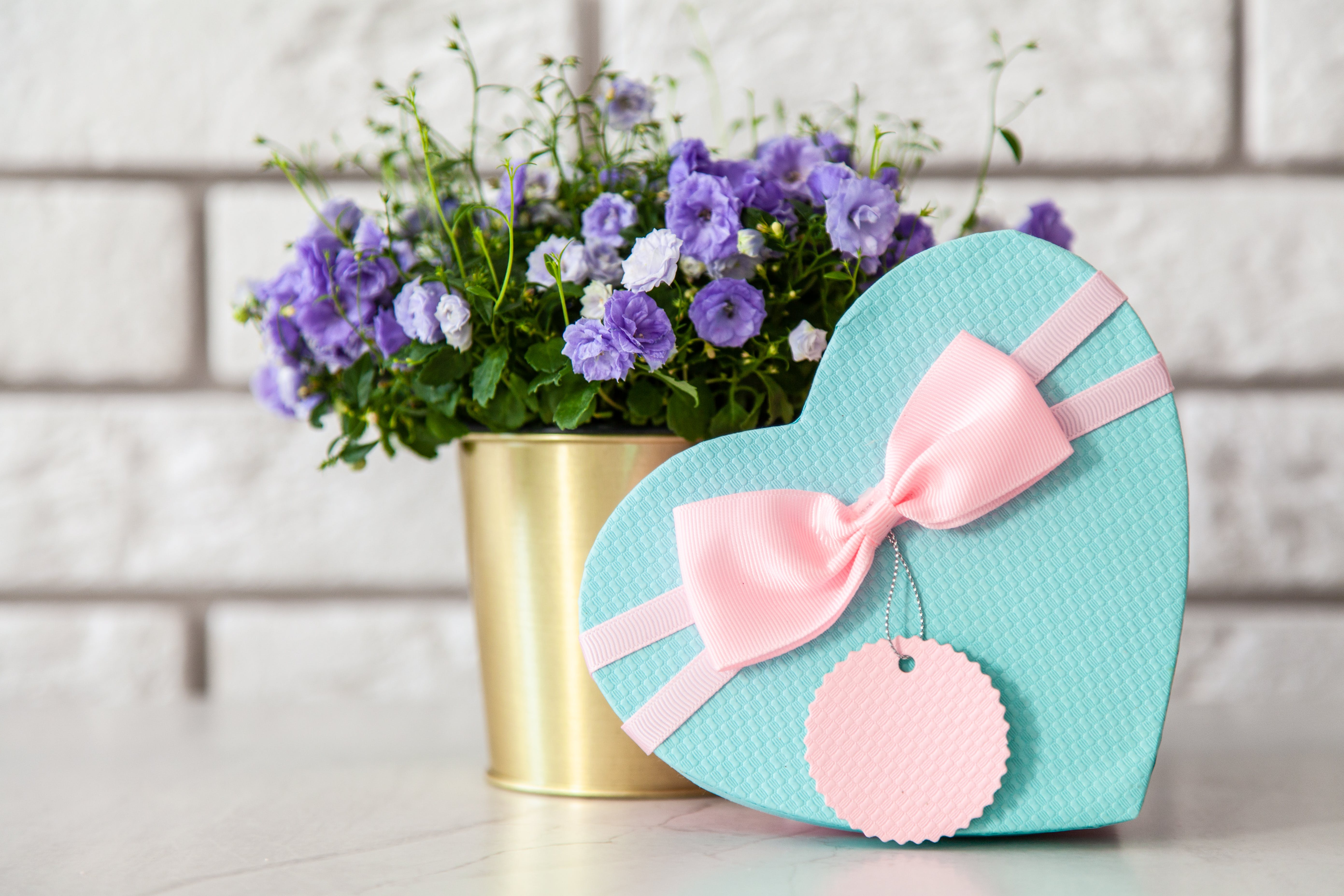 Pink and Teal Heart Box