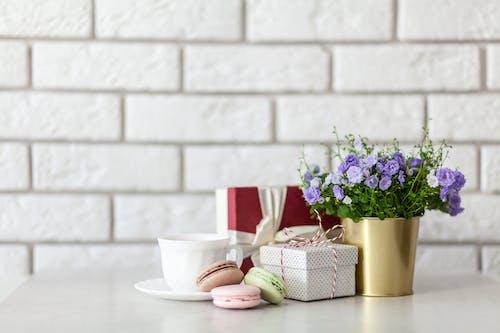 Purple-petaled Flower Beside Box