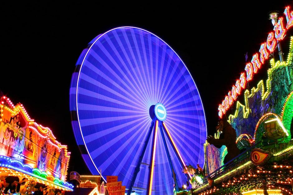 amusement park, background, bright