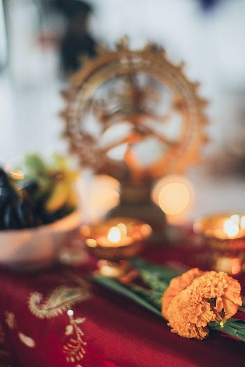 Shiva Figurine on Table