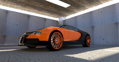 Black and Orange Bugatti Veyron