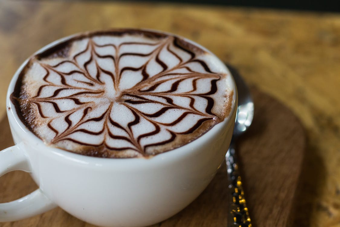 hrnek, kapučíno, káva