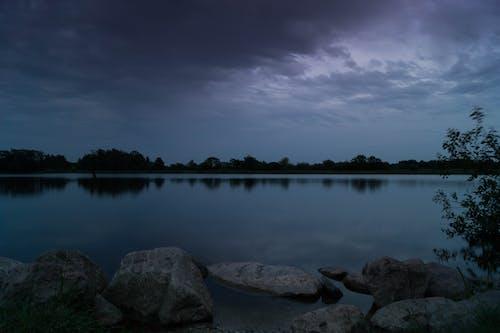 多雲的, 天性, 海, 薄暮 的 免费素材照片