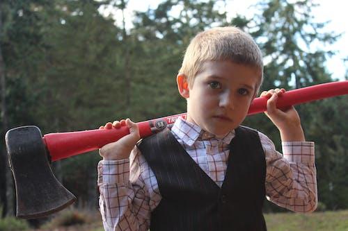 斧, 男子, 薪割りの無料の写真素材