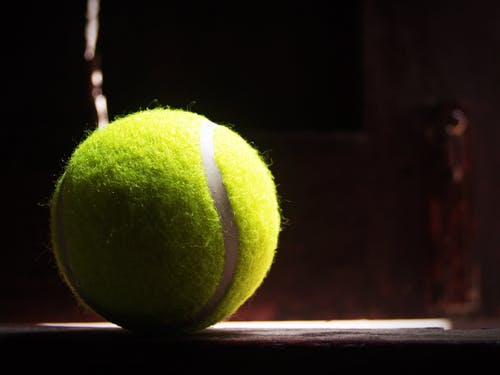 Green Lawn Tennis Ball