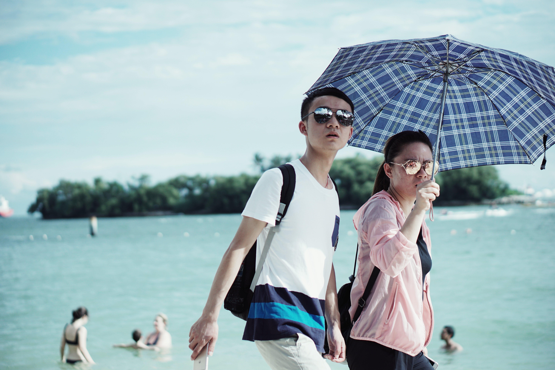 Free stock photo of asian couple, beach