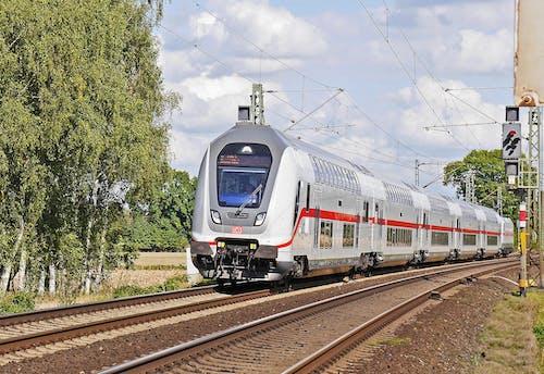 Ilmainen kuvapankkikuva tunnisteilla harjoitella, junanrata, kaksikerroksinen, liikennejärjestelmä