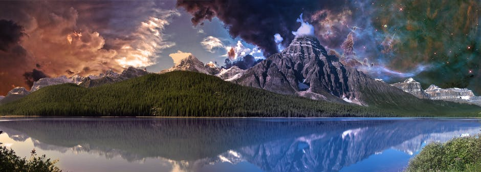 Blue clouds dawn daylight