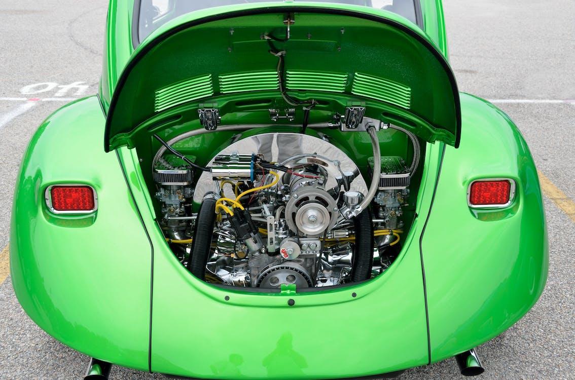 Green Volkswagen Beetle Engine