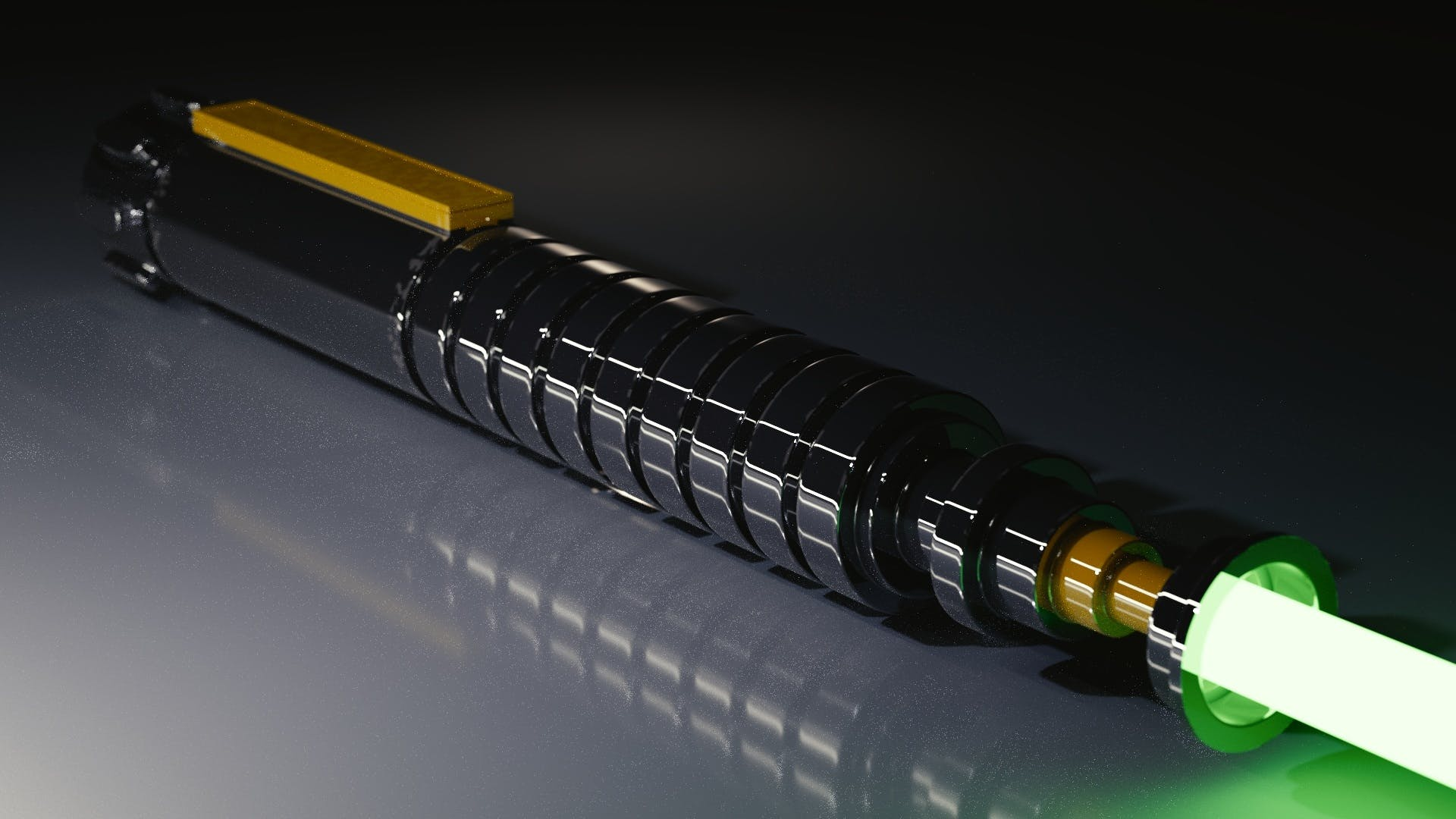 Black and Yellow Tube Light