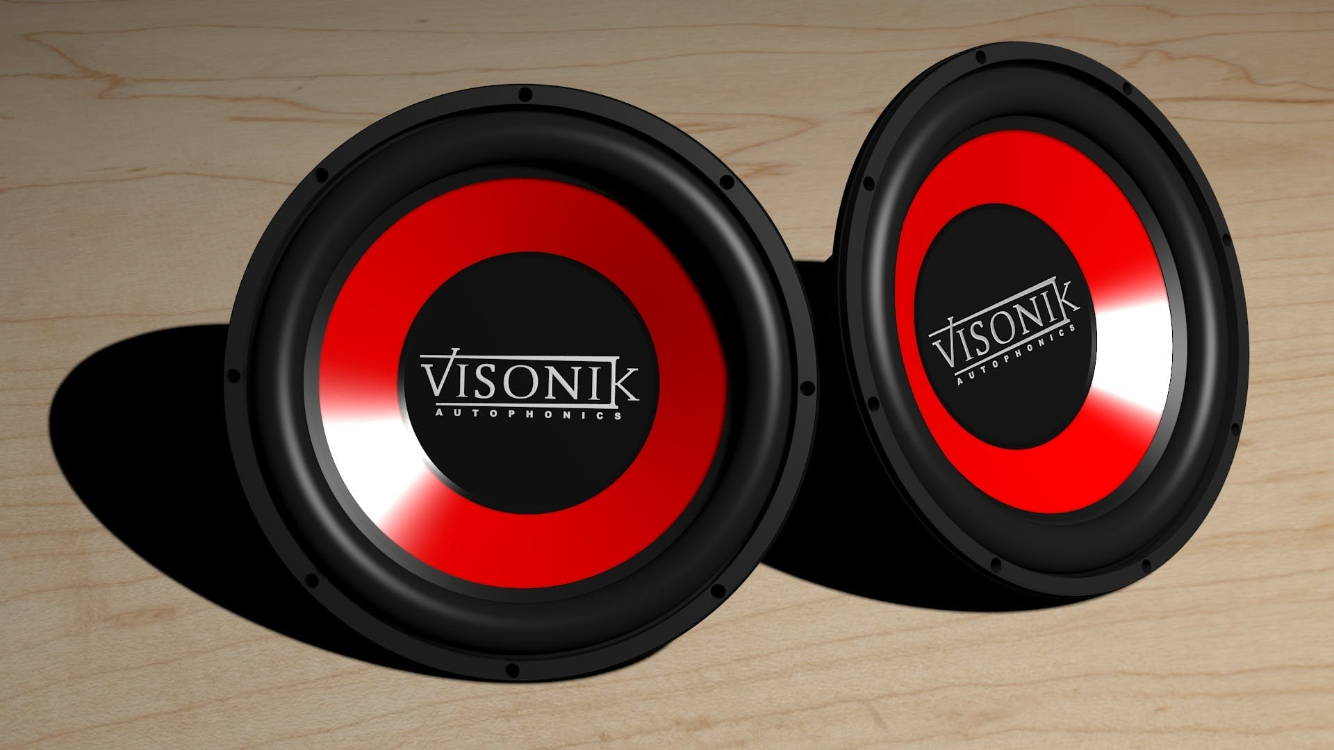 Visonik Black and Red Subwoofer