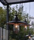 lights, hanging, illuminated