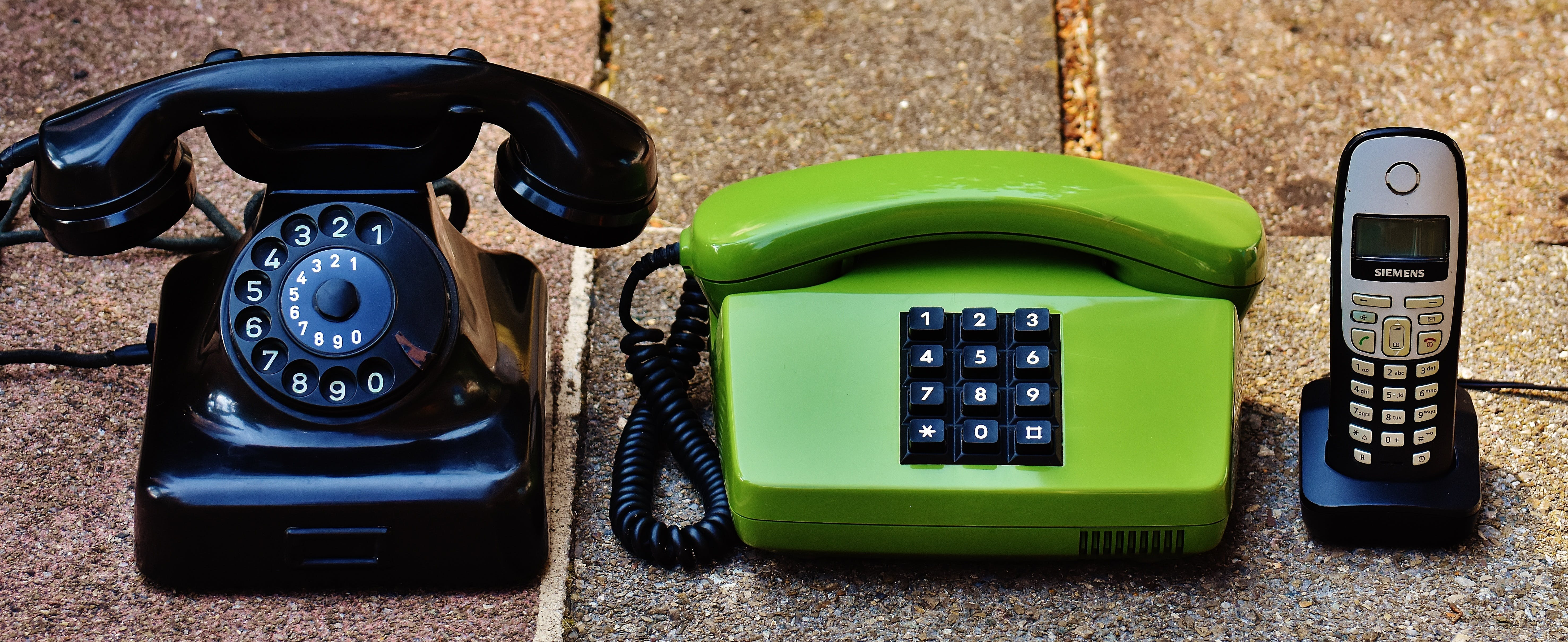 Two Green and Black Ip Phones