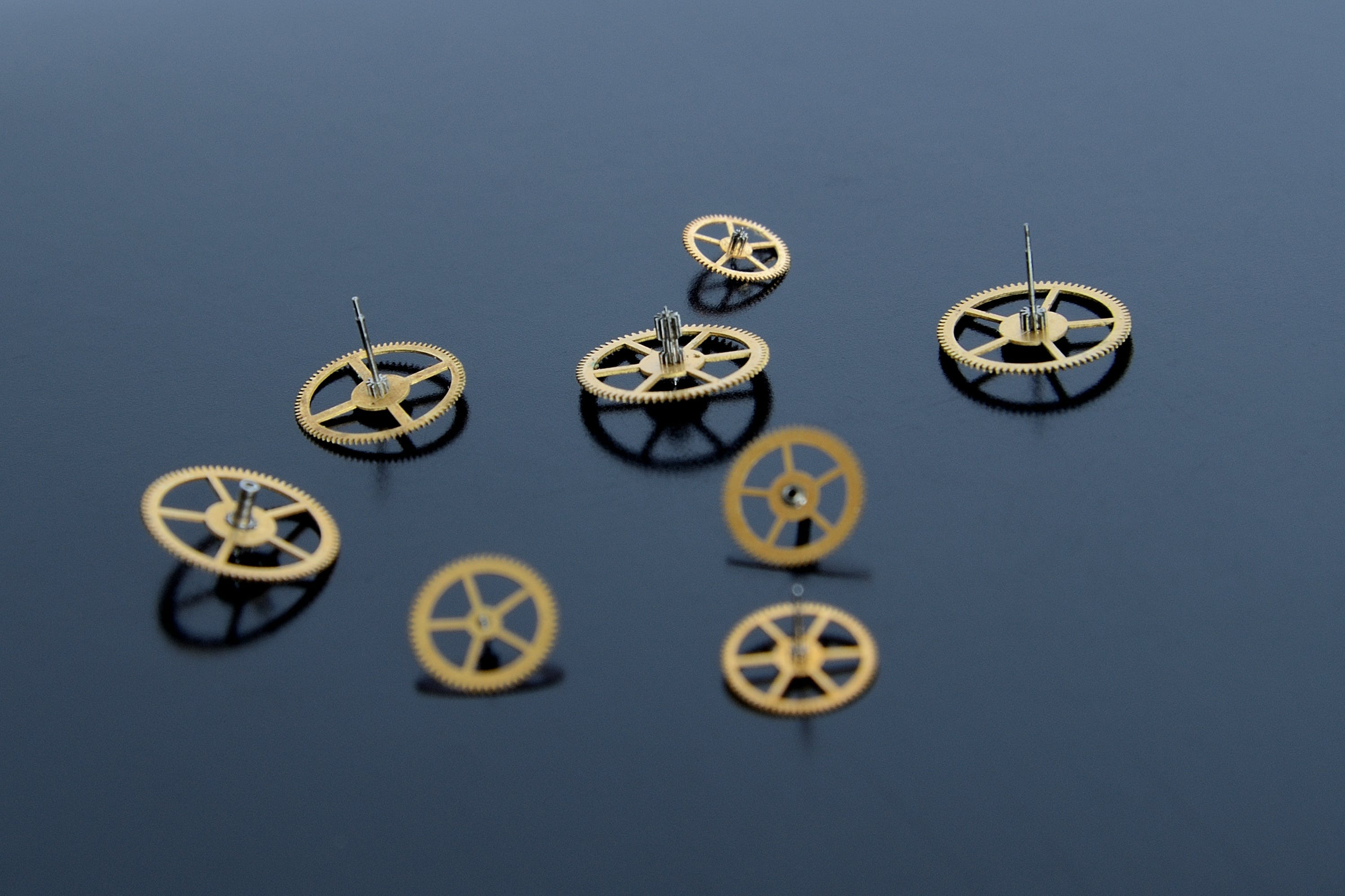 Gold-colored Watch Cogs