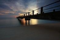 sea, dawn, sunset