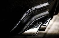 black-and-white, dark, car