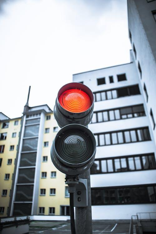Kostnadsfri bild av arkitektur, färg, ljus, röd