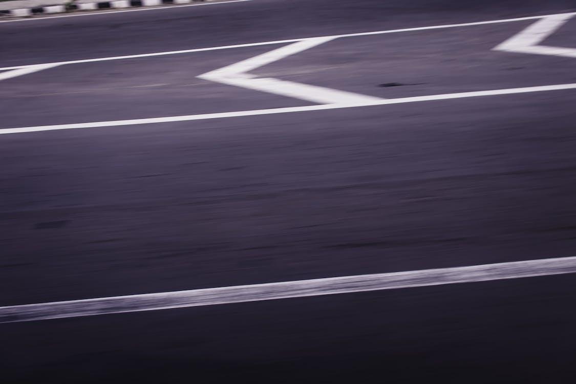 asfalt, gate, hovedvei