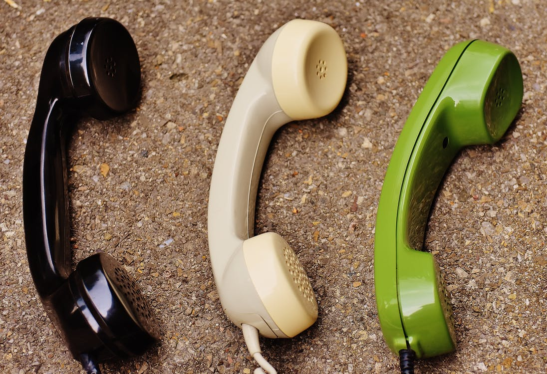 Black White and Green  Phones