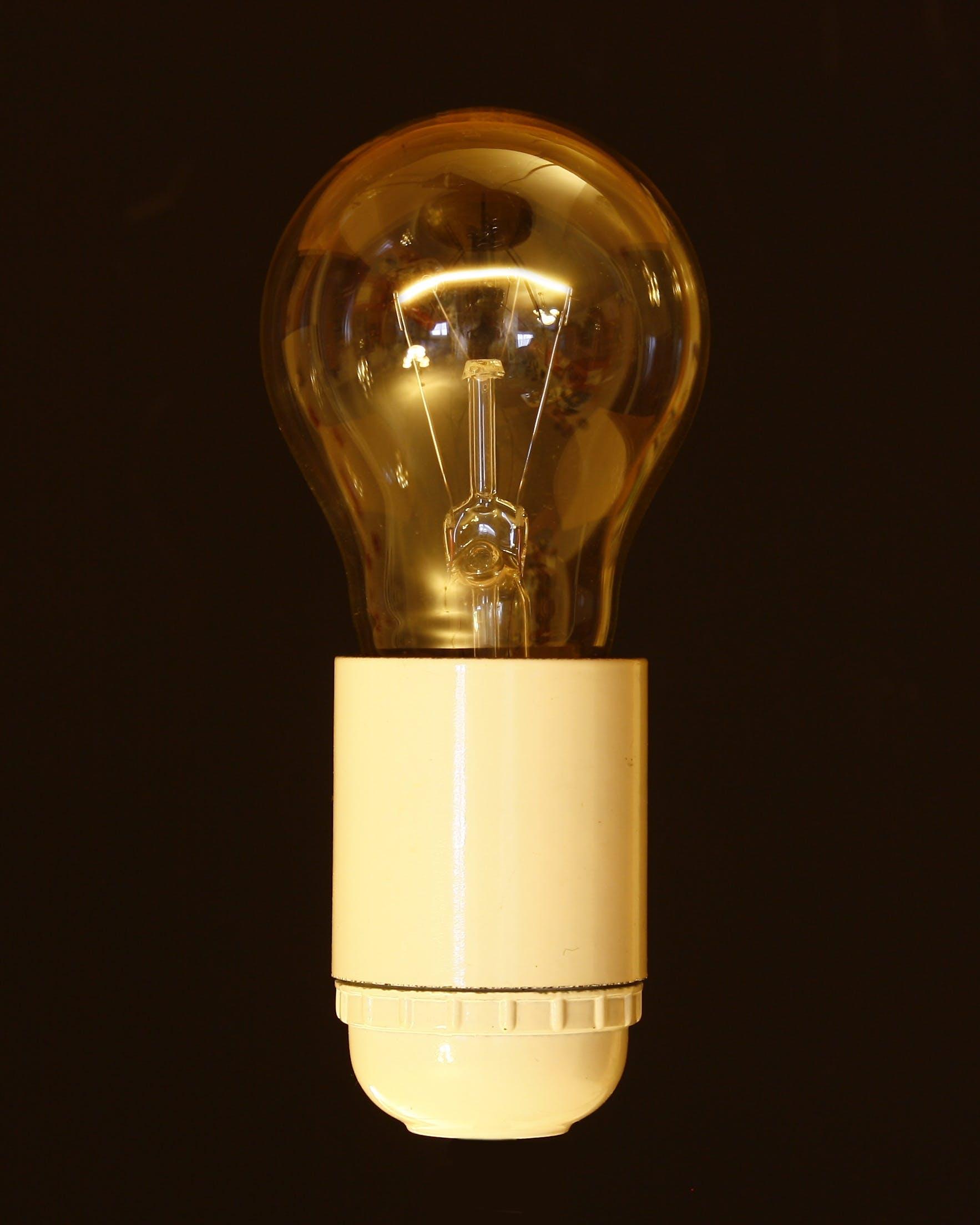 bright, bulb, clear