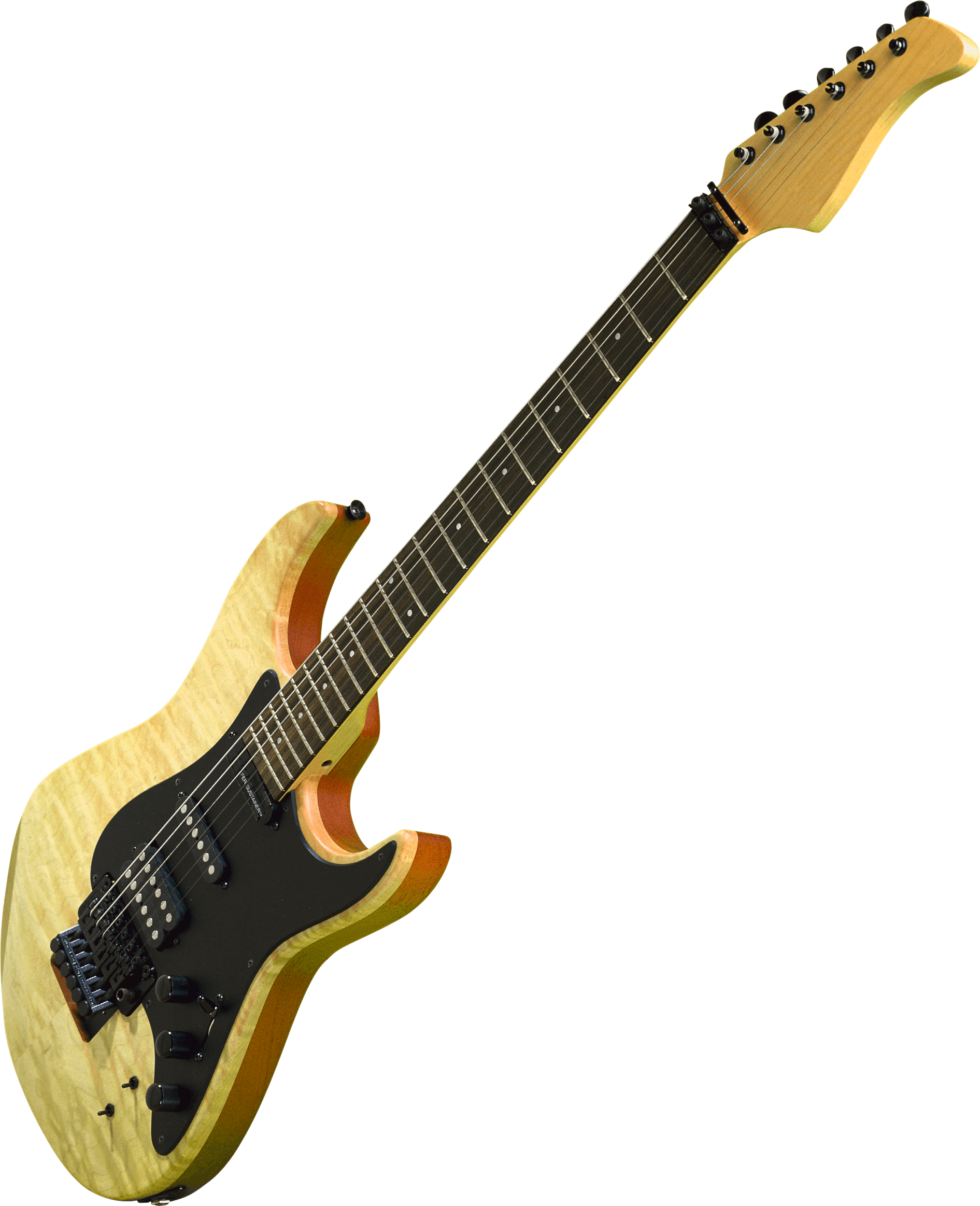 Brown and Black Electric Guitar Illustration