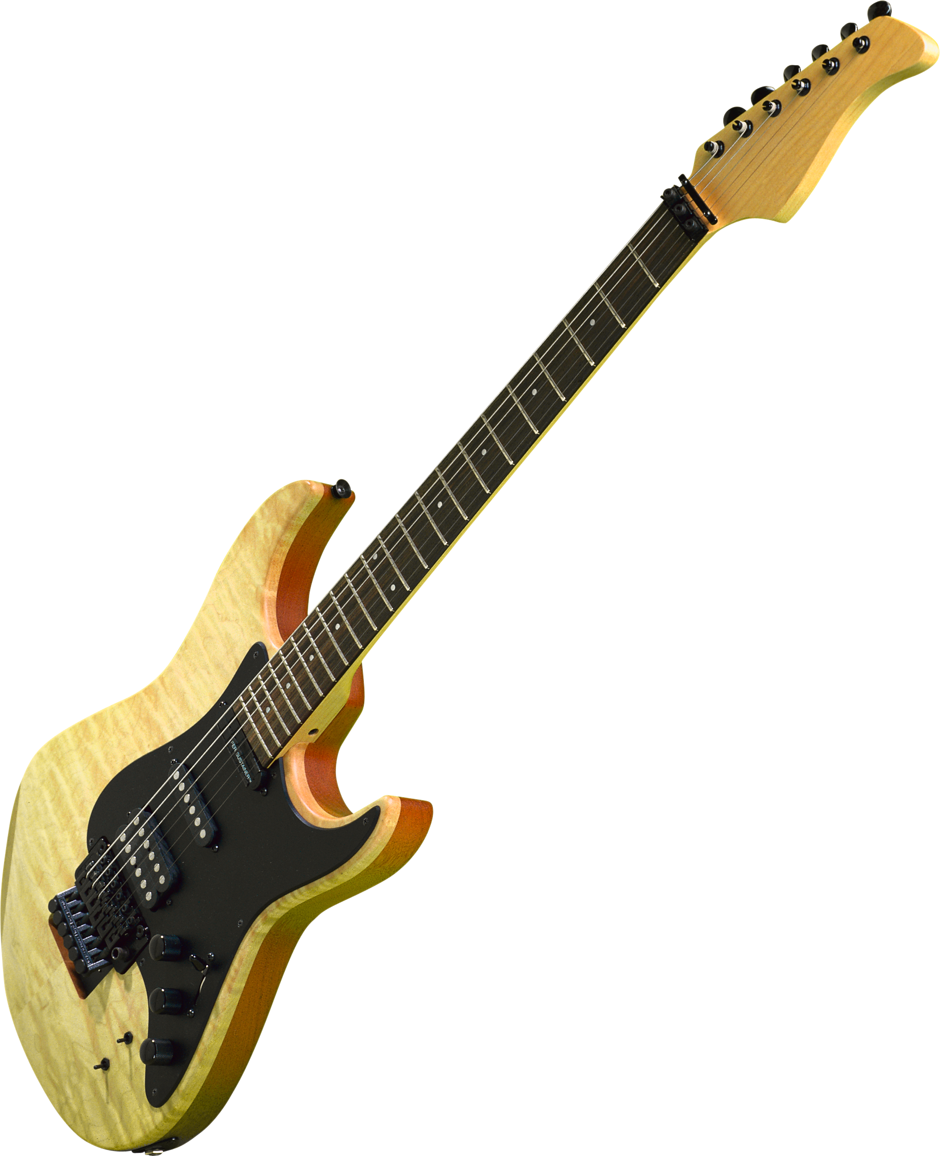 Brown And Black Electric Guitar Illustration Free Stock Photo