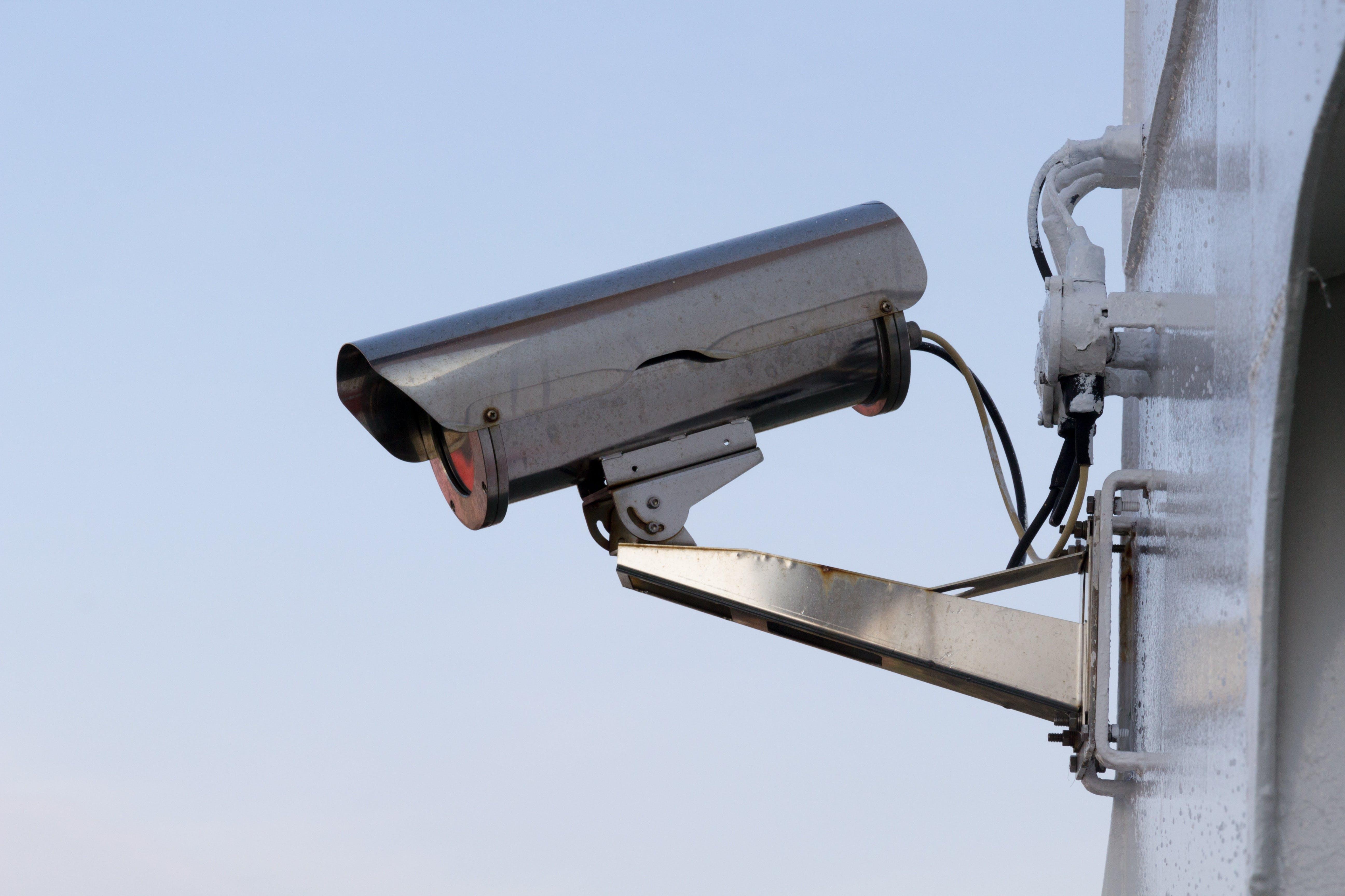 Silver Security Camera