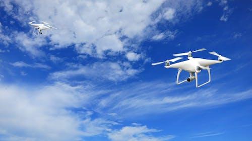 Foto stok gratis awan, baling-baling, dengung, drone