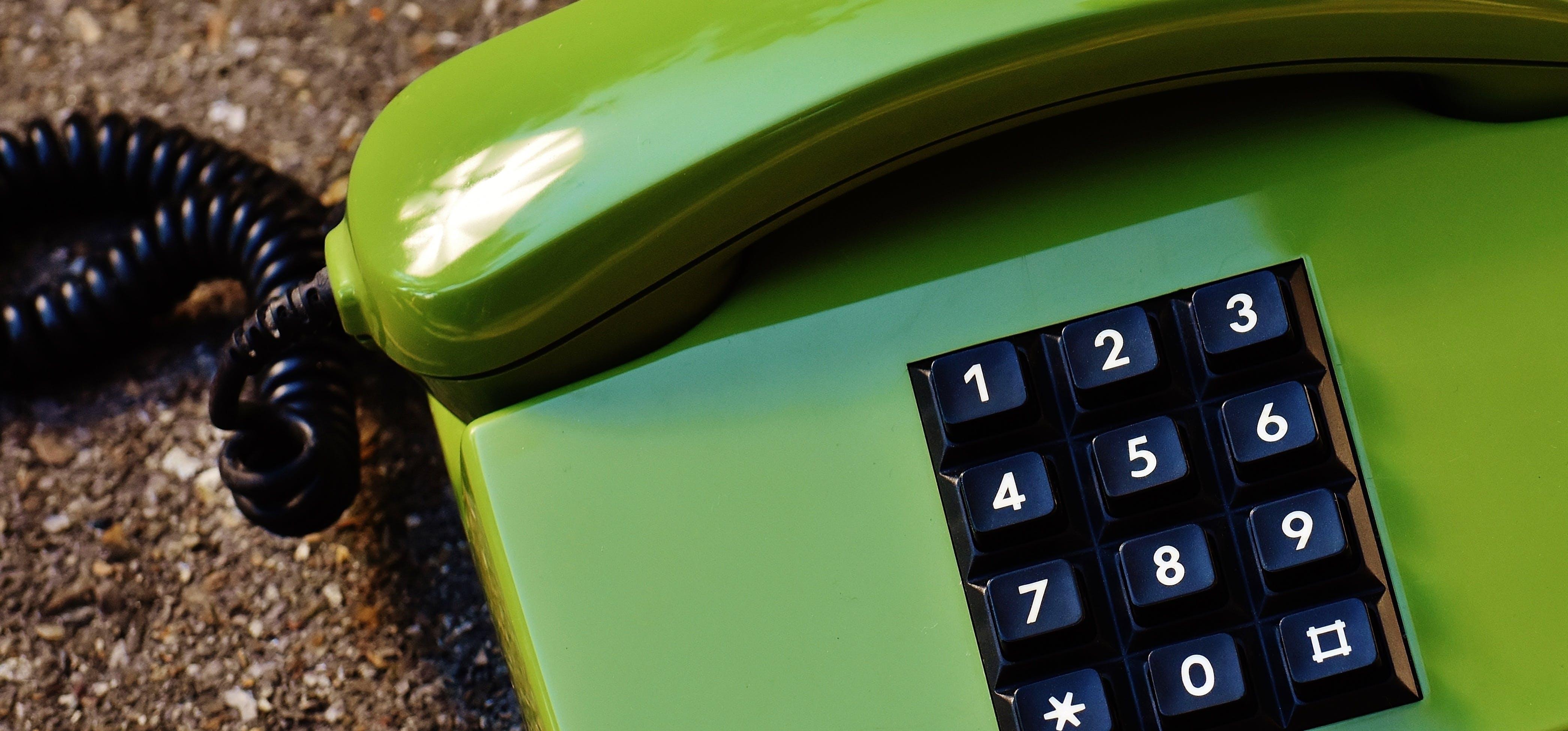 Green Black Telephone