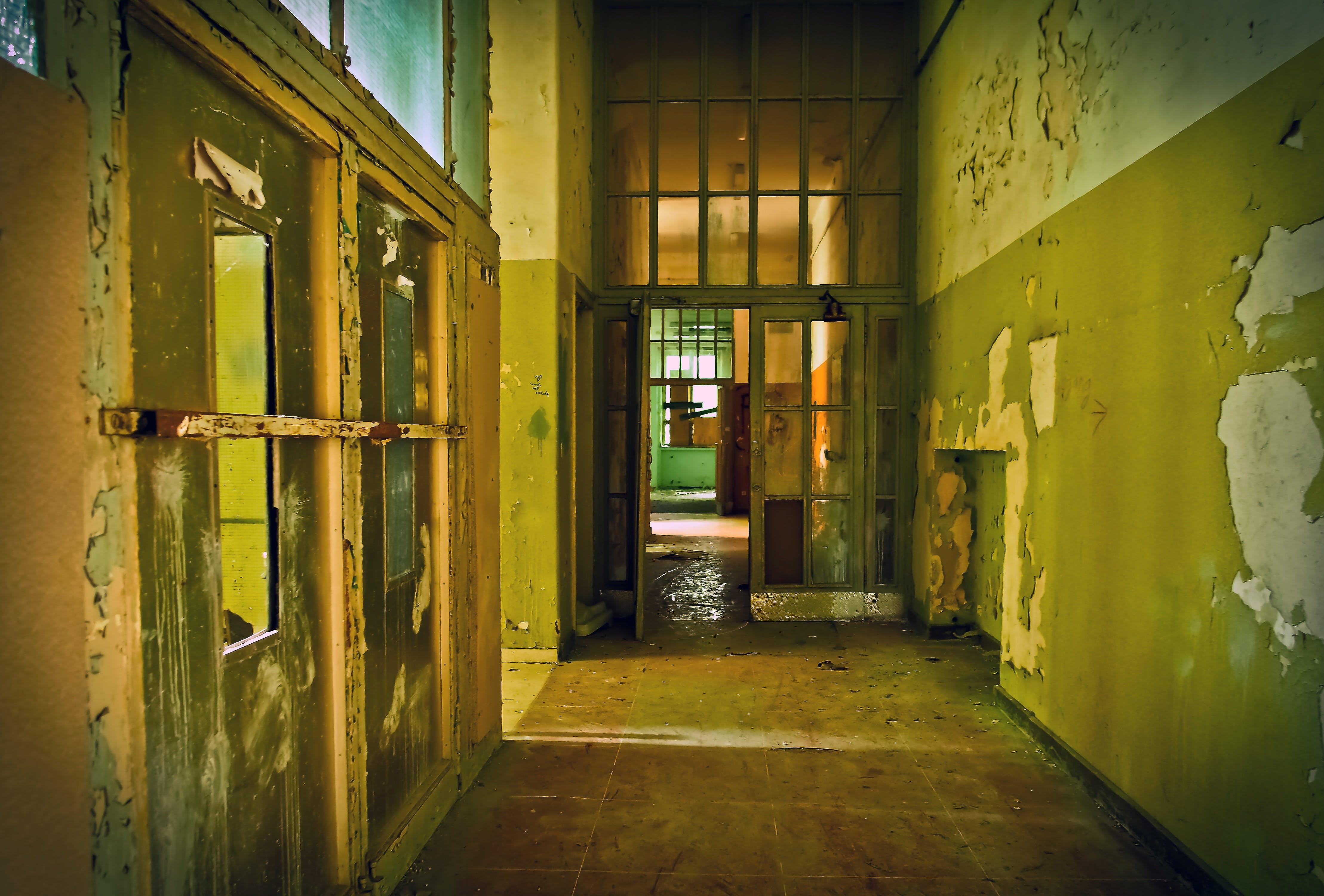 abandoned, broken, building