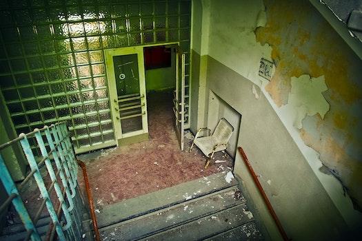 Free stock photo of stairs, building, broken, school