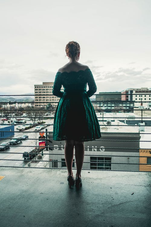 Free stock photo of city, cityscape, dress, emerald
