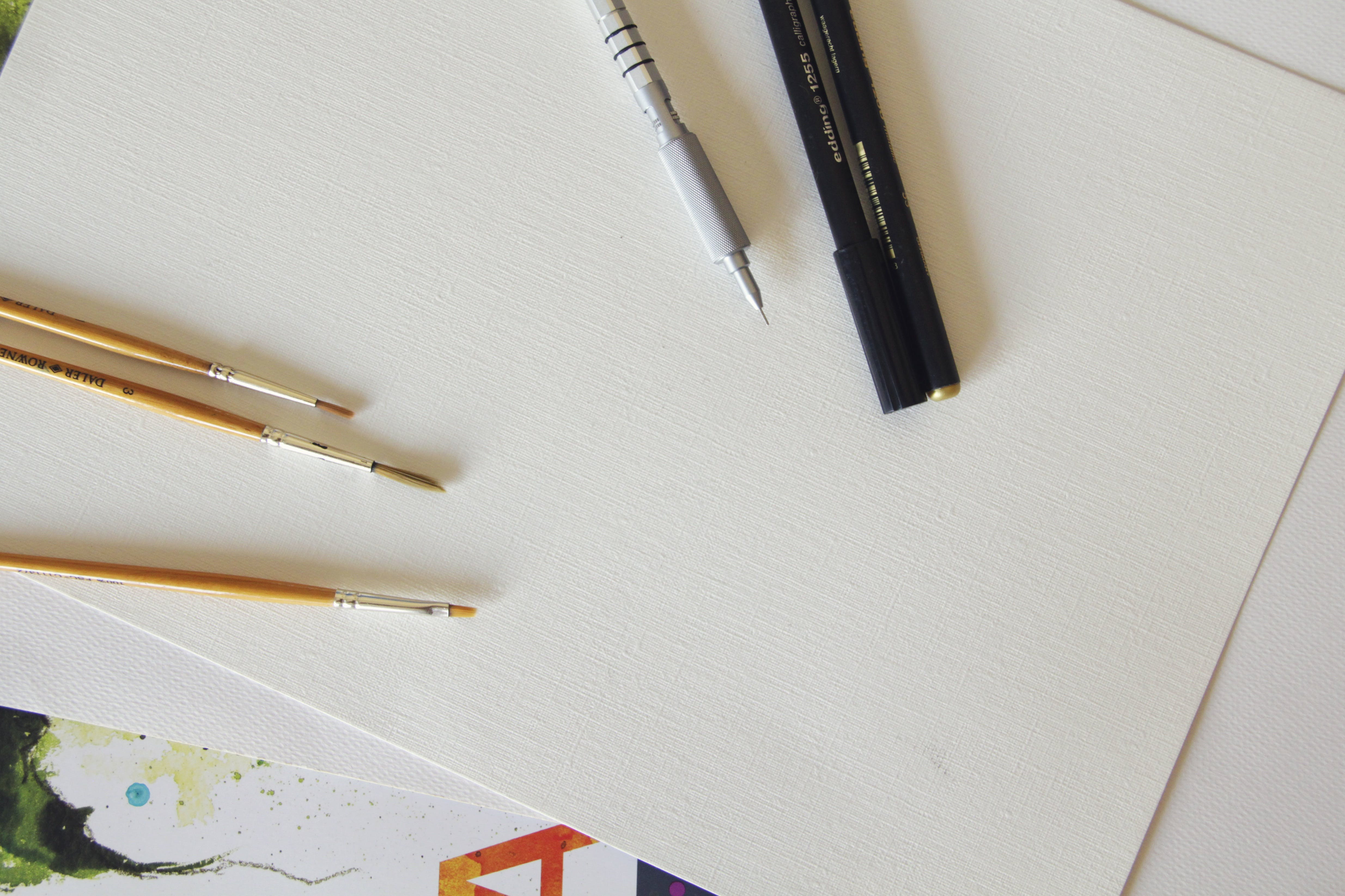 Free stock photo of pen, writing, pencil, table