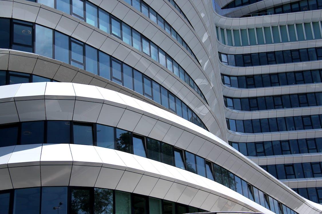 arkitektur, by, bybilde