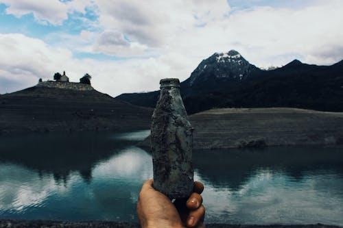 Foto d'estoc gratuïta de ampolla, got, muntanya, paisatge