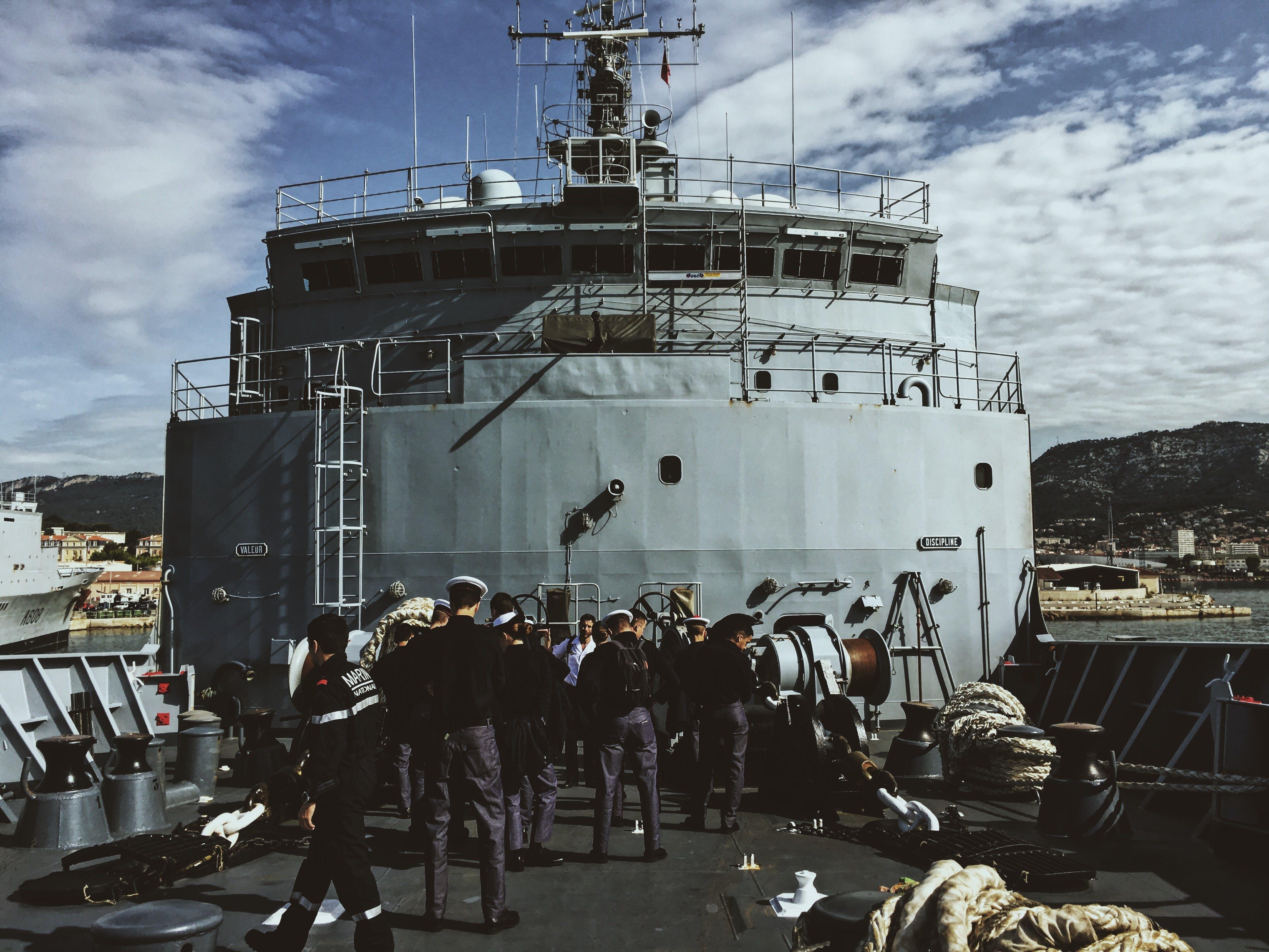 Ship Crew Standing On Ship