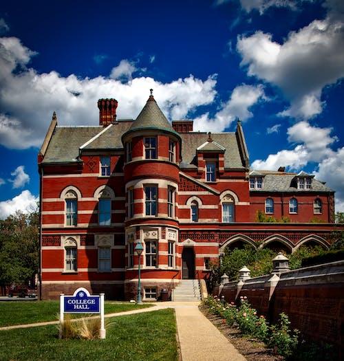 Gratis lagerfoto af arkitektur, bygning, campus, college hall