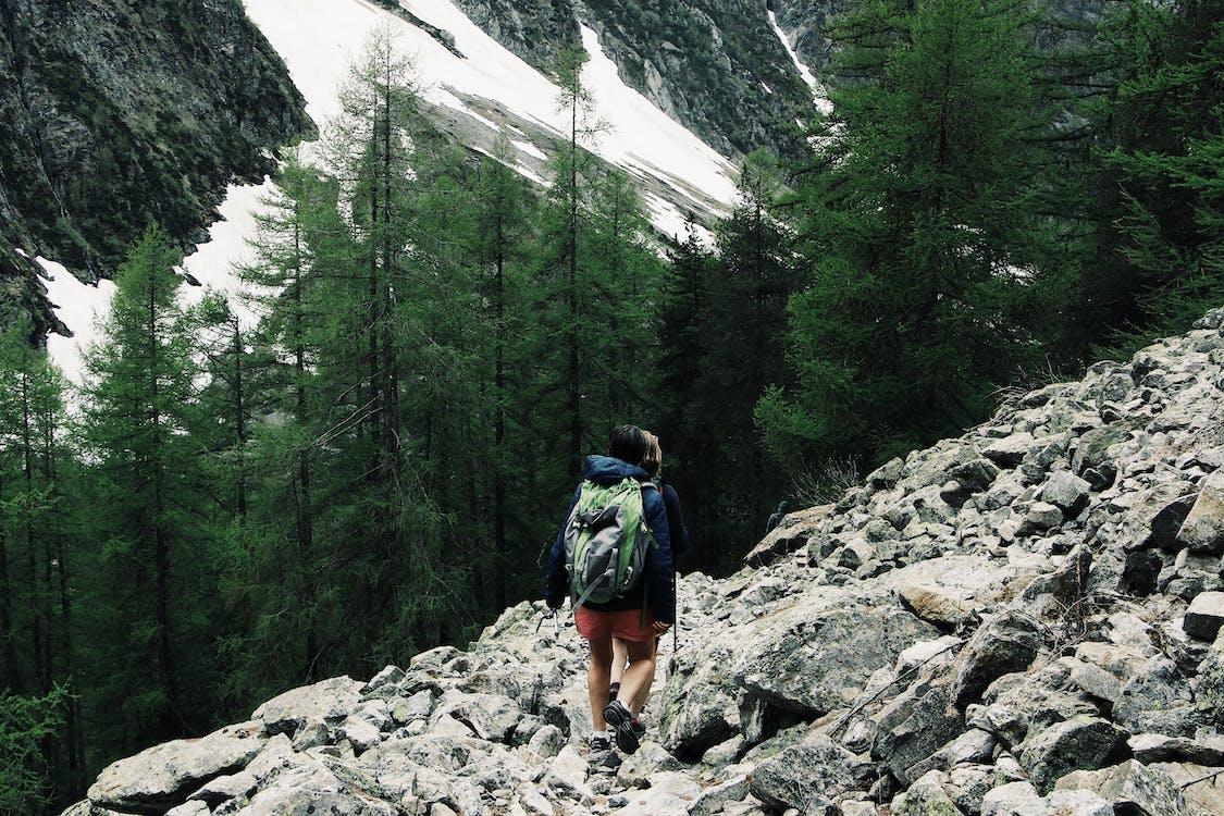 backpacker, trekking, αναρρίχηση