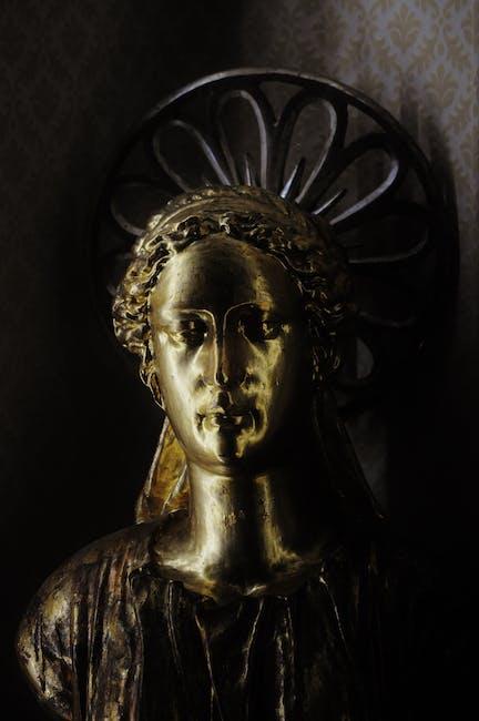 Sculpture gold golden angel